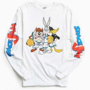 Urban outfitter Space Jam Long Sleeve White Tee M